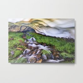 Ice Cave. Mountain river. Sierra Nevada Metal Print