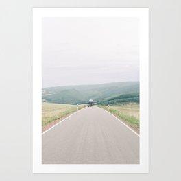 Vanlife in Europe - Camper van on the road in France   Wanderlust travel photography photo print Art Print