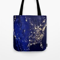america Tote Bags featuring America by 2sweet4words Designs