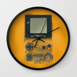 Classic retro transparent yellow game watch iPhone 4 5 6 7 8, tshirt, mugs and pillow case Wall Clock