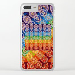 7 CHAKRA SYMBOLS OF HEALING ART #2 Clear iPhone Case