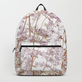 Soft Pink Wild Summer Flowers Backpack