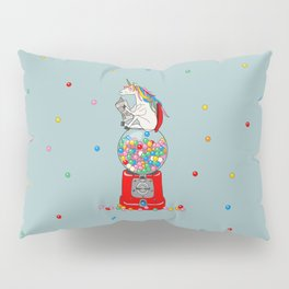 Unicorn Gumball Poop Pillow Sham