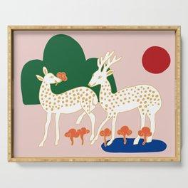kitschclassic_deer Serving Tray