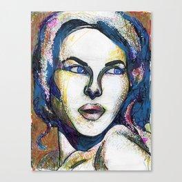 Pop Art Woman Canvas Print