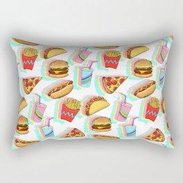 Rainbow Fast Food Rectangular Pillow