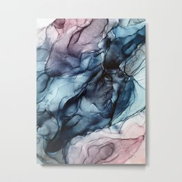 Blush and Darkness Abstract Paintings Metal Print