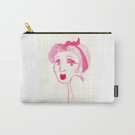 Rockabilly Pink Carry-All Pouch