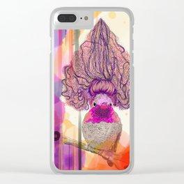 Fabulous Hummingbird Clear iPhone Case