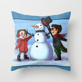 Sterek Winter Throw Pillow