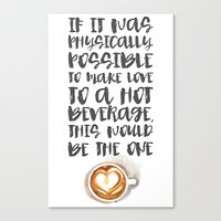 gilmore girls Canvas Prints featuring Gilmore Girls Typography // Coffee Love by Darling Vader