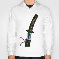 sword Hoodies featuring Japanese Sword by FACTORIE