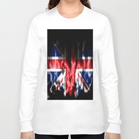 british flag Long Sleeve T-shirts featuring British flames  by Cozmic Photos