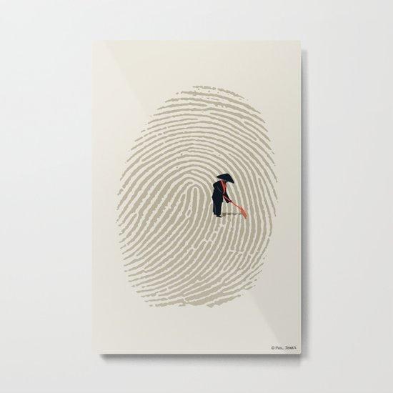 Zen Touch Metal Print