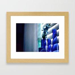 Blue Bottles - 2 Framed Art Print