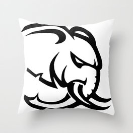 Hellephant Throw Pillow