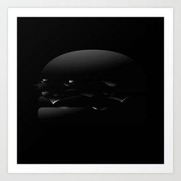 Black Burger Art Print