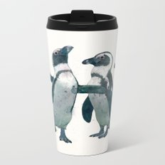penguin party Metal Travel Mug
