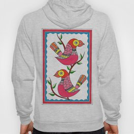 Madhubani Birds and Tree Hoody