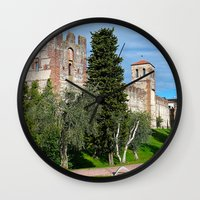 medieval Wall Clocks featuring Medieval Fortress by Art-Motiva