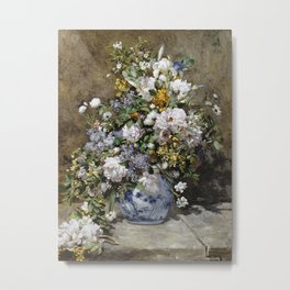 Pierre Auguste Renoir -Spring Bouquet. Metal Print