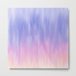 Artistic blush pink lavender watercolor ombre brushstrokes Metal Print