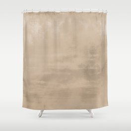 Burst of Color Pantone Hazelnut Abstract Watercolor Blend Shower Curtain