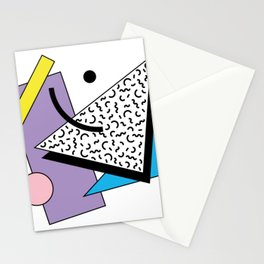 Memphis pattern 56 - 80s / 90s Retro Stationery Cards