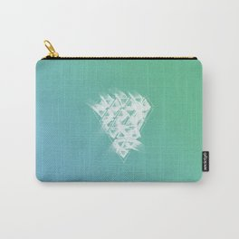 White Diamond Made Of Ink Carry-All Pouch