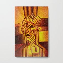Abstract Autoportrait Metal Print