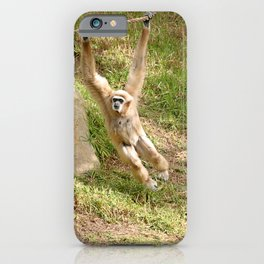 White Handed Gibbon iPhone Case