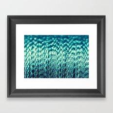 Metallic Cotton Blue Framed Art Print