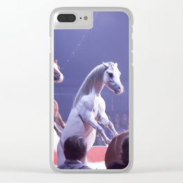 Circus Horses Clear iPhone Case