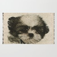 puppy Area & Throw Rugs featuring Puppy by Images by McGrath