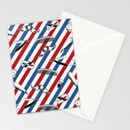 Barber Shop Pattern Stationery Cards