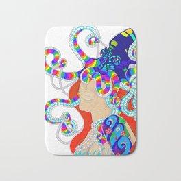 Octopus Woman Bath Mat