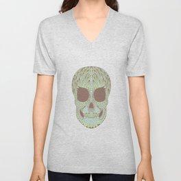 camouflage skull Unisex V-Neck