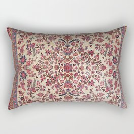 Persian Old Century Authentic Colorful Red Pink Light Blue Purple Vintage Patterns Rectangular Pillow