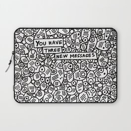 You have three new messages (abstract pattern) Laptop Sleeve