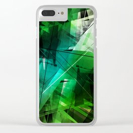 Jungle - Geometric Abstract Art Clear iPhone Case