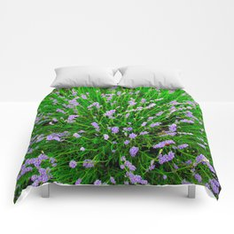 Lavender Close Up Comforters