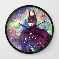 bat Wall Clocks featuring bat by Beth Jorgensen