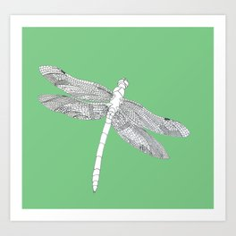 Dragonfly in spring Art Print
