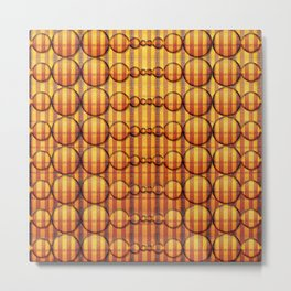 Abstract round shapes in orange tones Metal Print
