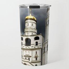 Dark clouds over Kremlin Travel Mug