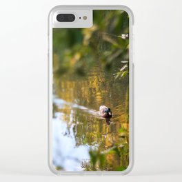 Duck pond Clear iPhone Case