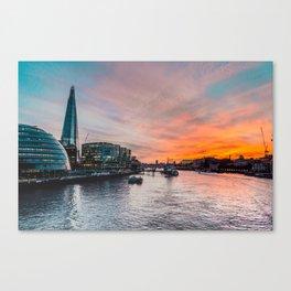 Summer evenings - London Canvas Print