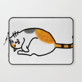 Comfy Calico Cat Laptop Sleeve