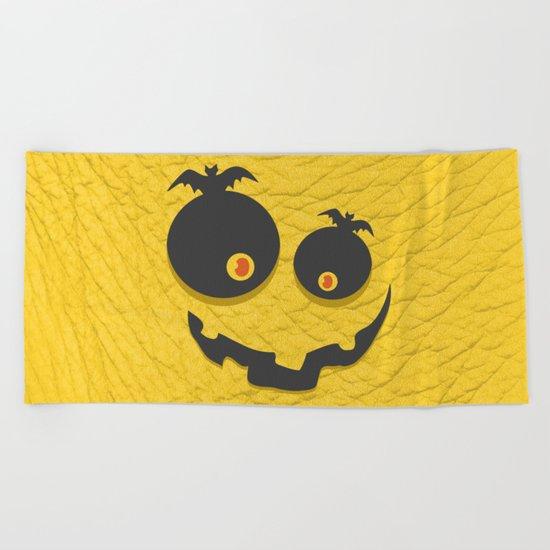 Scary Halloween Beach Towel