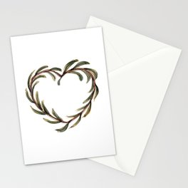 Olive branch heart Stationery Cards